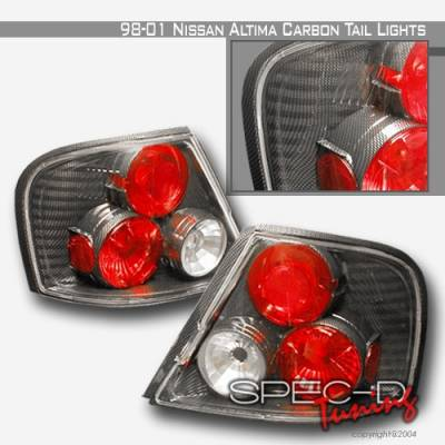 Headlights & Tail Lights - Tail Lights - Custom Disco - Nissan Altima Custom Disco Carbon Fiber Taillights - LT-ALT-98CF-YD