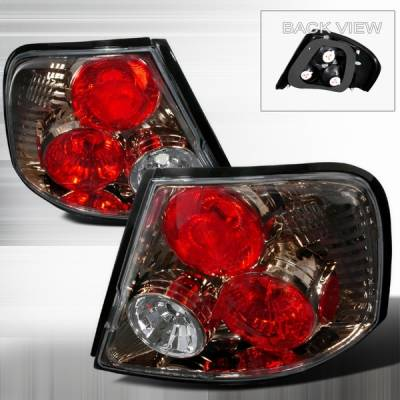Headlights & Tail Lights - Tail Lights - Custom Disco - Nissan Altima Custom Disco Gunmetal Taillights - LT-ALT-98G-YD
