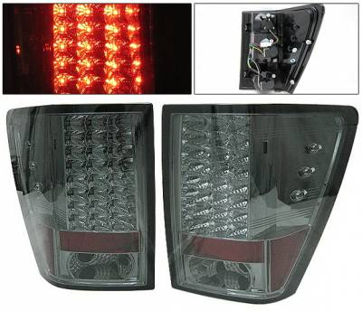 Headlights & Tail Lights - Led Tail Lights - 4 Car Option - Jeep Grand Cherokee 4 Car Option LED Taillights - Smoke - LT-JGC05LEDSM-YD