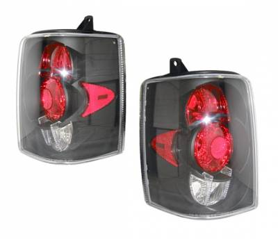 Headlights & Tail Lights - Tail Lights - 4 Car Option - Jeep Grand Cherokee 4 Car Option Altezza Taillights - Black - LT-JGC93JB-YD