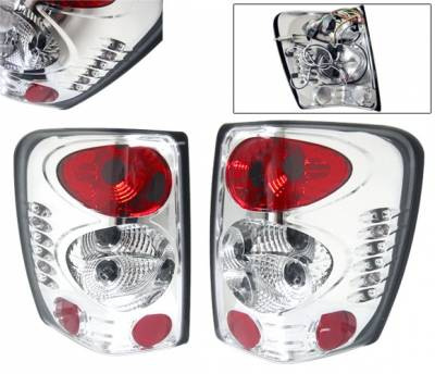 Headlights & Tail Lights - Tail Lights - 4 Car Option - Jeep Grand Cherokee 4 Car Option Altezza Taillights - Chrome - LT-JGC99A-YD