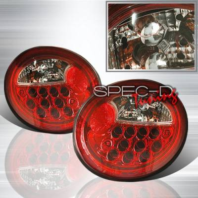 Headlights & Tail Lights - LED Tail Lights - Custom Disco - Volkswagen Beetle Custom Disco Red LED Taillights - LT-BEE98RLED