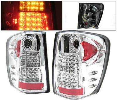 Headlights & Tail Lights - Led Tail Lights - 4 Car Option - Jeep Grand Cherokee 4 Car Option LED Taillights - Chrome - LT-JGC99LEDC-YD