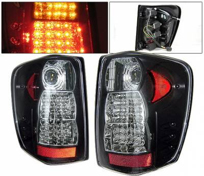 Headlights & Tail Lights - Led Tail Lights - 4 Car Option - Jeep Grand Cherokee 4 Car Option LED Taillights - Black - LT-JGC99LEDJB-YD