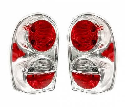 Headlights & Tail Lights - Tail Lights - 4 Car Option - Jeep Liberty 4 Car Option Altezza Taillights - Chrome - LT-JL01A-KS