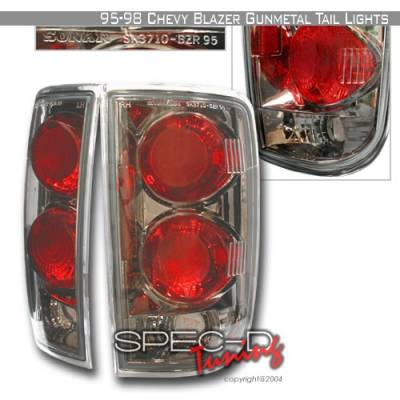 Headlights & Tail Lights - Tail Lights - Custom Disco - GMC Jimmy Custom Disco Gun Metal Taillights - LT-BLZ95G-YD