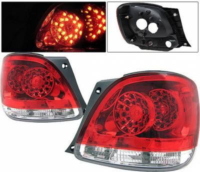 Headlights & Tail Lights - Led Tail Lights - 4 Car Option - Lexus GS 4 Car Option LED Taillights - Red & Clear - LT-LGS98LEDRC-KS