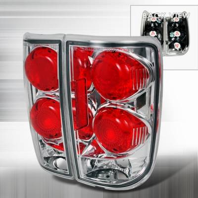 Headlights & Tail Lights - Tail Lights - Custom Disco - GMC Jimmy Custom Disco Chrome Taillights - LT-BLZ95-YD