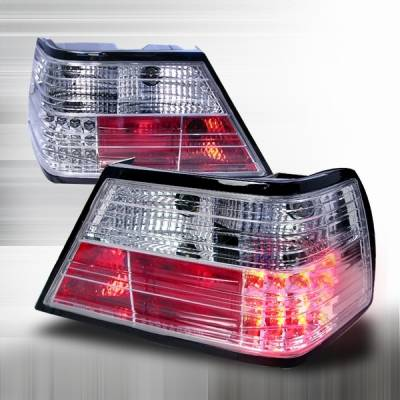 Headlights & Tail Lights - Led Tail Lights - Custom Disco - Mercedes-Benz E Class Custom Disco Chrome LED Taillights - LT-BW12486CLED