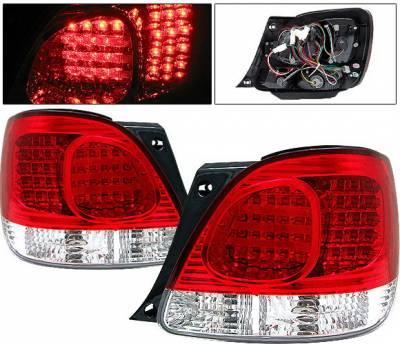Headlights & Tail Lights - Led Tail Lights - 4 Car Option - Lexus GS 4 Car Option LED Taillights - Red - LT-LGS98R-LED