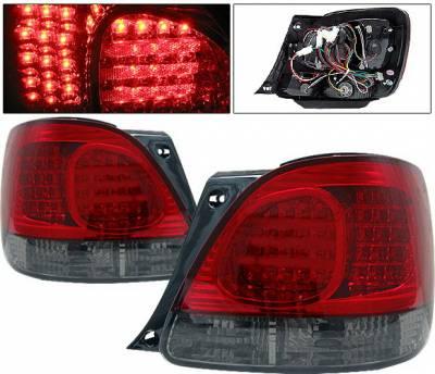 Headlights & Tail Lights - Led Tail Lights - 4 Car Option - Lexus GS 4 Car Option LED Taillights - Red & Smoke - LT-LGS98RSM-LED