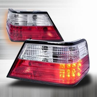 Headlights & Tail Lights - Led Tail Lights - Custom Disco - Mercedes-Benz E Class Custom Disco Red LED Taillights - LT-BW12486RLED