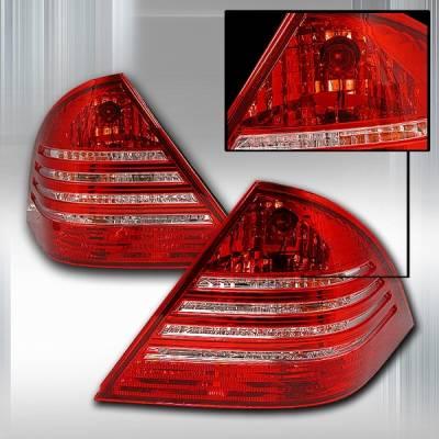 Headlights & Tail Lights - Tail Lights - Custom Disco - Mercedes-Benz C Class Custom Disco Red & Clear JDM Taillights - LT-BW20301RPW