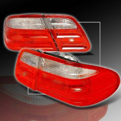 Headlights & Tail Lights - Tail Lights - Custom Disco - Mercedes-Benz E Class Custom Disco Red & Clear Taillights - LT-BW21095RPW
