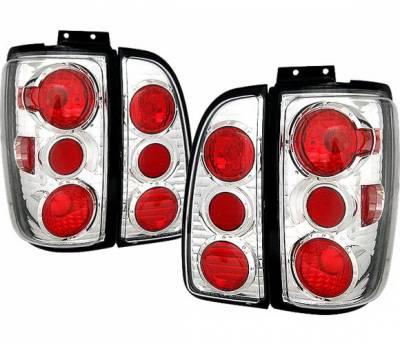 Headlights & Tail Lights - Tail Lights - 4 Car Option - Lincoln Navigator 4 Car Option Altezza Taillights - Chrome - LT-LN01A-KS