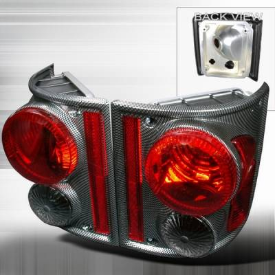 Headlights & Tail Lights - Tail Lights - Custom Disco - Chevrolet C10 Custom Disco Carbon Fiber Taillights - LT-C1073CF-TM