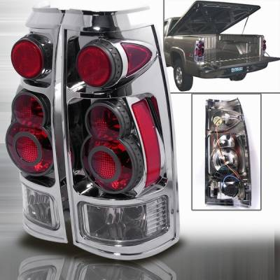 Headlights & Tail Lights - Tail Lights - Custom Disco - Chevrolet C10 Custom Disco Clear Taillights - LT-C10883D-APC