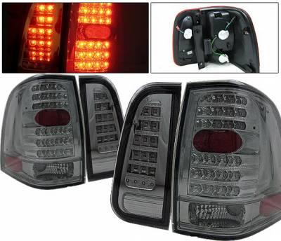 Headlights & Tail Lights - Led Tail Lights - 4 Car Option - Lincoln Navigator 4 Car Option LED Taillights - Red & Smoke - LT-LN03LEDRSM-KS