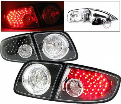 Headlights & Tail Lights - Led Tail Lights - 4 Car Option - Mazda 3 4DR 4 Car Option LED Taillights - Black - LT-MAZ34LEDJB-6
