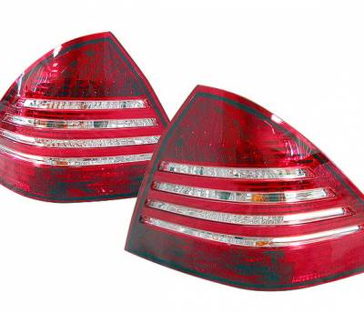 Headlights & Tail Lights - Led Tail Lights - 4 Car Option - Mercedes-Benz C Class 4 Car Option LED Taillights - LT-MBZC01LED-KS
