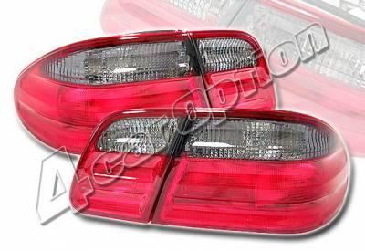 Headlights & Tail Lights - Tail Lights - 4 Car Option - Mercedes-Benz E Class 4 Car Option Taillights - Smoke - LT-MBZE96SM-KS