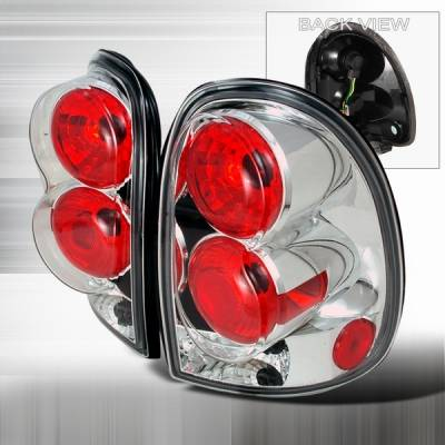 Headlights & Tail Lights - Tail Lights - Custom Disco - Dodge Caravan Custom Disco Chrome Taillights - LT-CAR96-YD