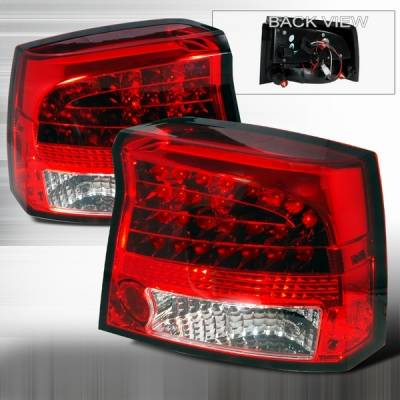 Headlights & Tail Lights - Led Tail Lights - Custom Disco - Dodge Charger Custom Disco Red Euro LED Taillights - LT-CHG05RLED-YD