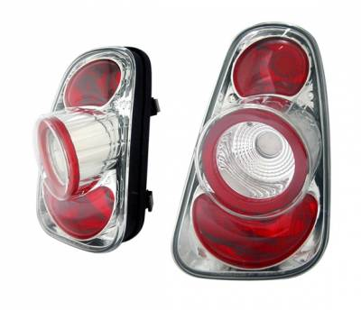 Headlights & Tail Lights - Tail Lights - 4 Car Option - Mini Cooper 4 Car Option Altezza Taillights - Chrome - LT-MCOP01C-YD