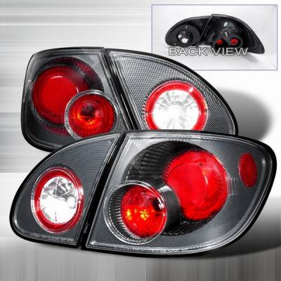 Headlights & Tail Lights - Tail Lights - Custom Disco - Toyota Corolla Custom Disco Black Taillights - LT-COR03CF-YD