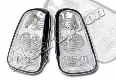 Headlights & Tail Lights - Tail Lights - 4 Car Option - Mini Cooper 4 Car Option Altezza Taillights - Silver Chrome - LT-MCOP01S-KS