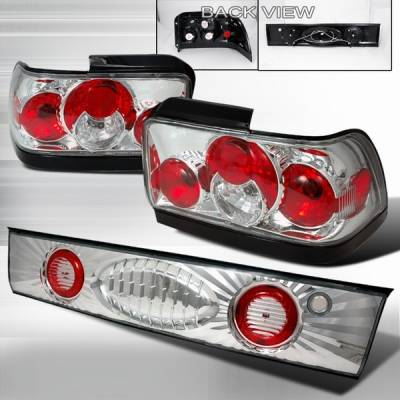 Headlights & Tail Lights - Tail Lights - Custom Disco - Toyota Corolla Custom Disco Chrome Taillights - 3PC - LT-COR933-YD
