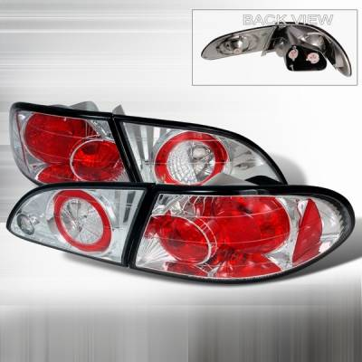Headlights & Tail Lights - Tail Lights - Custom Disco - Toyota Corolla Custom Disco Chrome Taillights - LT-COR98-YD