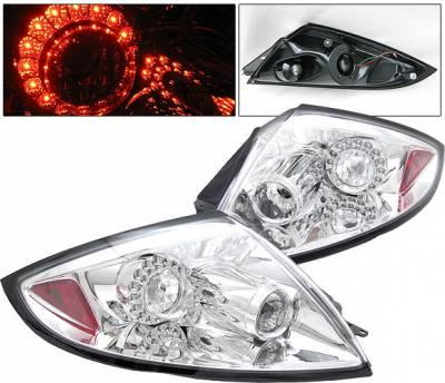 Headlights & Tail Lights - Led Tail Lights - 4 Car Option - Mitsubishi Eclipse 4 Car Option LED Taillights - All Clear - LT-ME06LEDC-5