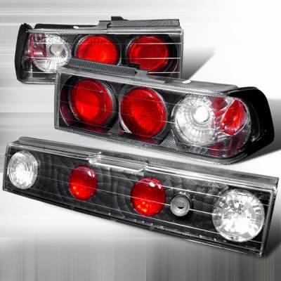Headlights & Tail Lights - Tail Lights - Custom Disco - Honda Civic Custom Disco Carbon Fiber Taillights - LT-CV88CF3-YD