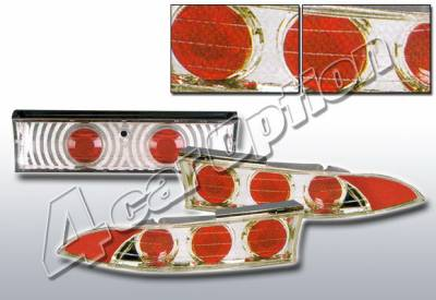 Headlights & Tail Lights - Tail Lights - 4 Car Option - Mitsubishi Eclipse 4 Car Option Altezza Taillights - V2 - Chrome - LT-ME953A2-KS