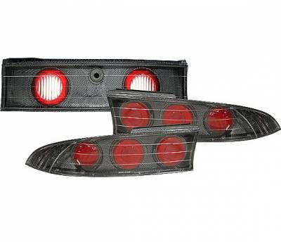Headlights & Tail Lights - Tail Lights - 4 Car Option - Mitsubishi Eclipse 4 Car Option Altezza Taillights - V3 - Carbon Fiber Style - LT-ME95F-YD