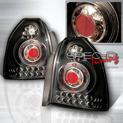 Headlights & Tail Lights - Led Tail Lights - Custom Disco - Honda Civic Custom Disco Black LED Taillights - LT-CV963JMLED