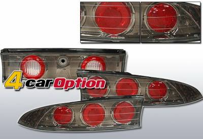 Headlights & Tail Lights - Tail Lights - 4 Car Option - Mitsubishi Eclipse 4 Car Option Altezza Taillights - V3 - Gunmetal - LT-ME95G3-YD