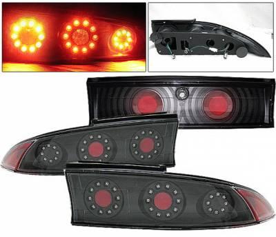 Headlights & Tail Lights - Led Tail Lights - 4 Car Option - Mitsubishi Eclipse 4 Car Option LED Taillights - Black - 3PC - LT-ME95LEDJB-KS