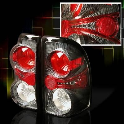 Headlights & Tail Lights - Tail Lights - Custom Disco - Dodge Dakota Custom Disco Carbon Fiber Taillights - LT-DAK97CF-YD
