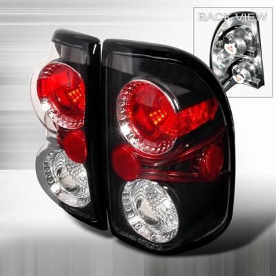 Headlights & Tail Lights - Tail Lights - Custom Disco - Dodge Dakota Custom Disco Black Taillights - LT-DAK97JM-YD