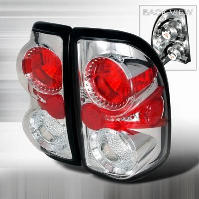 Headlights & Tail Lights - Tail Lights - Custom Disco - Dodge Dakota Custom Disco Chrome Taillights - LT-DAK97-YD