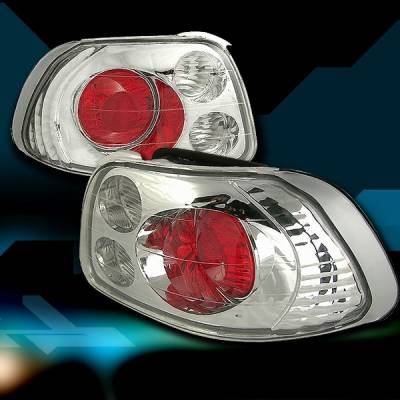 Headlights & Tail Lights - Tail Lights - Custom Disco - Honda Del Sol Custom Disco Chrome Taillights - LT-DEL93-YD