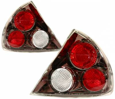 Headlights & Tail Lights - Tail Lights - 4 Car Option - Mitsubishi Mirage 4 Car Option Altezza Taillights - Gunmetal - LT-MM99G-YD
