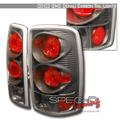 Headlights & Tail Lights - Tail Lights - Custom Disco - GMC Denali Custom Disco Carbon Fiber Taillights - LT-DEN00CF-YD