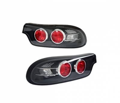 Headlights & Tail Lights - Tail Lights - 4 Car Option - Mazda RX-7 4 Car Option Altezza Taillights - Black - 3PC - LT-MRX7JB-YD