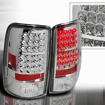 Headlights & Tail Lights - Led Tail Lights - Custom Disco - GMC Denali Custom Disco Chrome LED Taillights - LT-DEN00CLED-YD