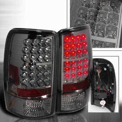 Headlights & Tail Lights - Led Tail Lights - Custom Disco - Chevrolet Tahoe Custom Disco Smoke LED Taillights - LT-DEN00GLED-YD