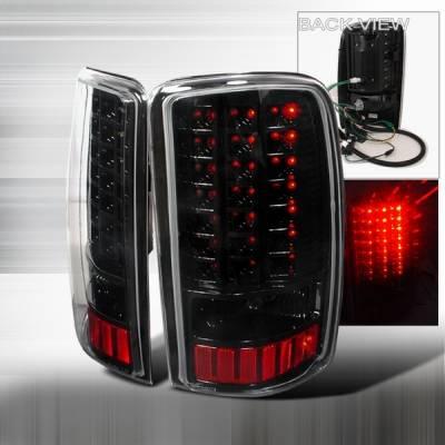 Headlights & Tail Lights - Led Tail Lights - Custom Disco - GMC Denali Custom Disco Black LED Taillights - LT-DEN00JMLED