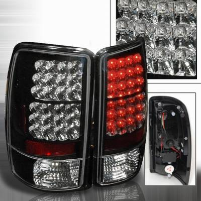 Headlights & Tail Lights - Led Tail Lights - Custom Disco - Chevrolet Tahoe Custom Disco Black LED Taillights - LT-DEN00JMLED-YD